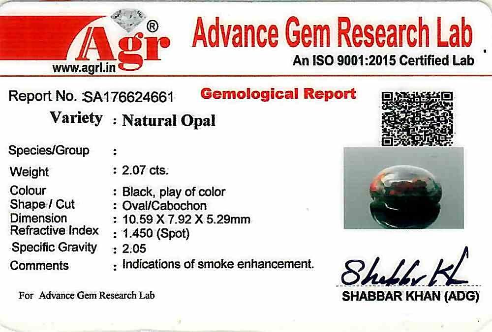 Black Opal - 2.07 carats