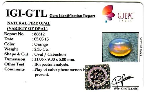 Fire Opal - 2.35 carats