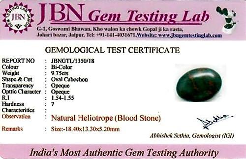 Bloodstone - 9.75 carats