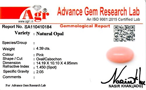 Pink Opal - 4.39 carats