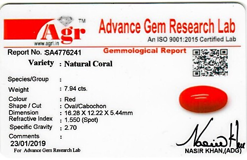Red Coral - 7.94 carats