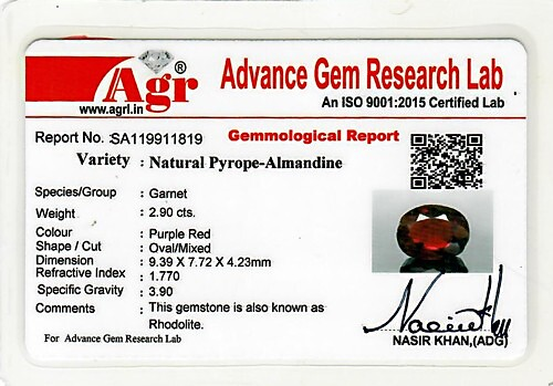 Red Garnet - 2.90 carats