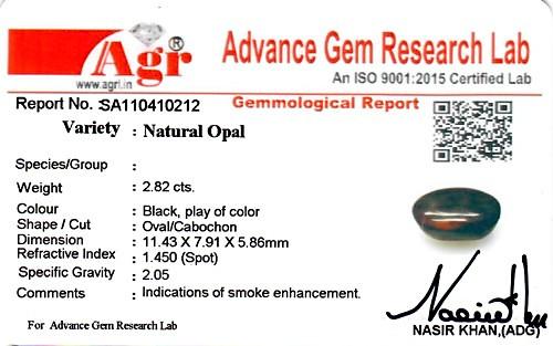 Black Opal - 2.82 carats