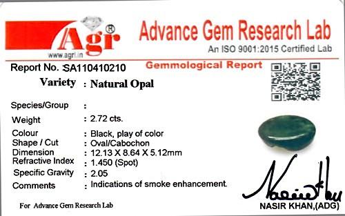 Black Opal - 2.72 carats