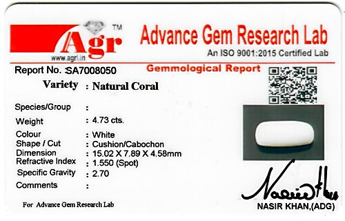 White Coral - 4.73 carats