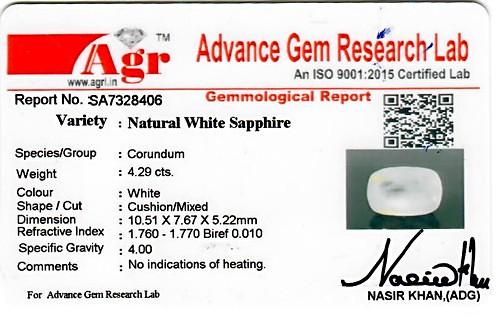 White Sapphire - 4.29 carats