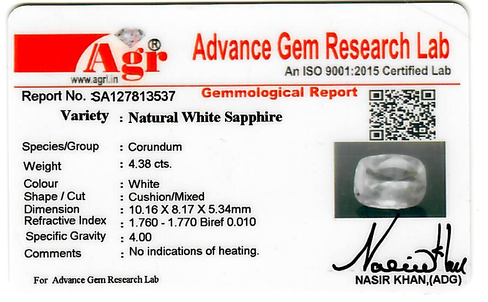 White Sapphire - 4.38 carats