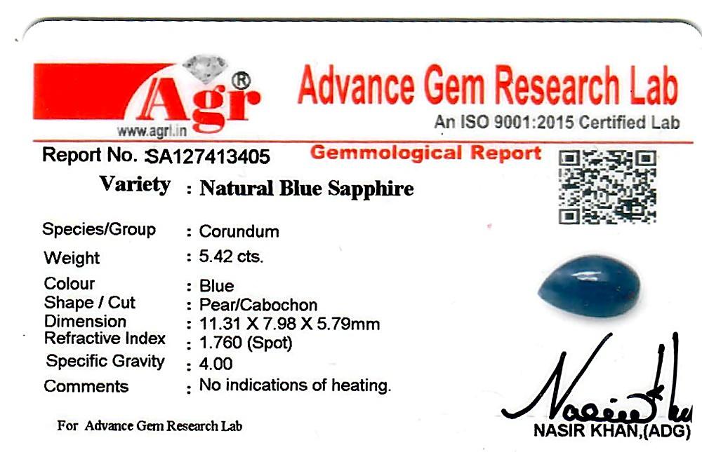 Blue Sapphire - 5.42 carats