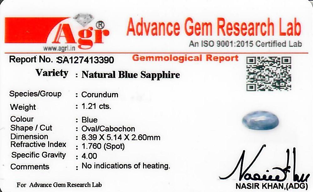 Blue Sapphire - 1.21 carats
