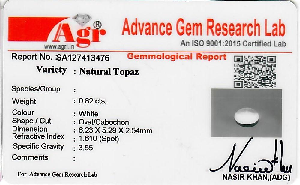 White Topaz - 0.82 carats