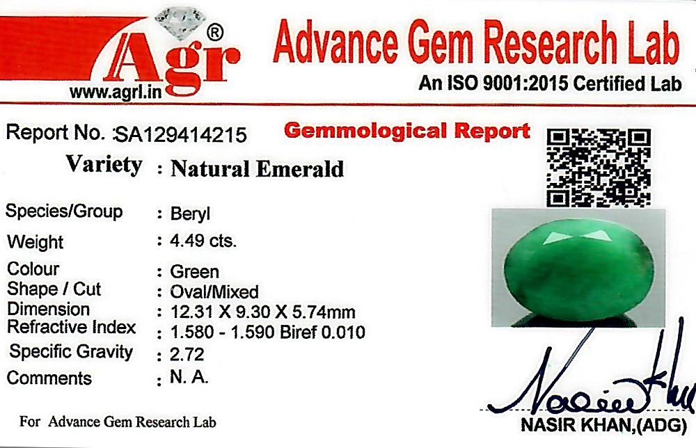 Emerald - 4.49 carats