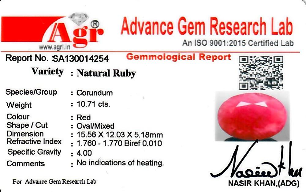 Ruby - 10.71 carats