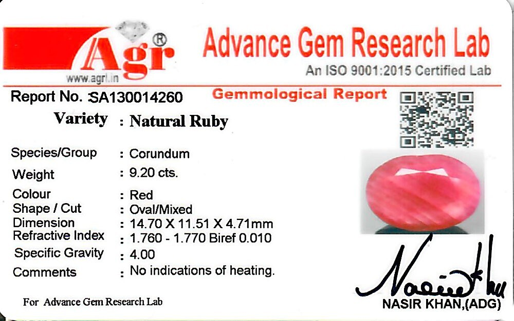 Ruby - 9.20 carats