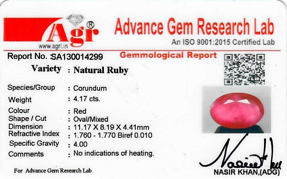 Ruby - 4.17 carats