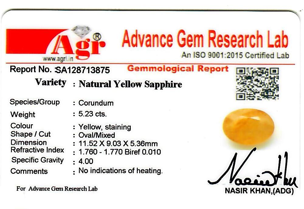 Yellow Sapphire - 5.23 carats