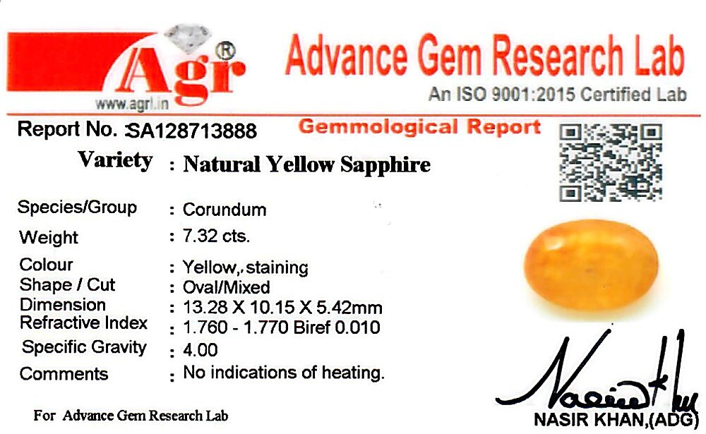 Yellow Sapphire - 7.32 carats