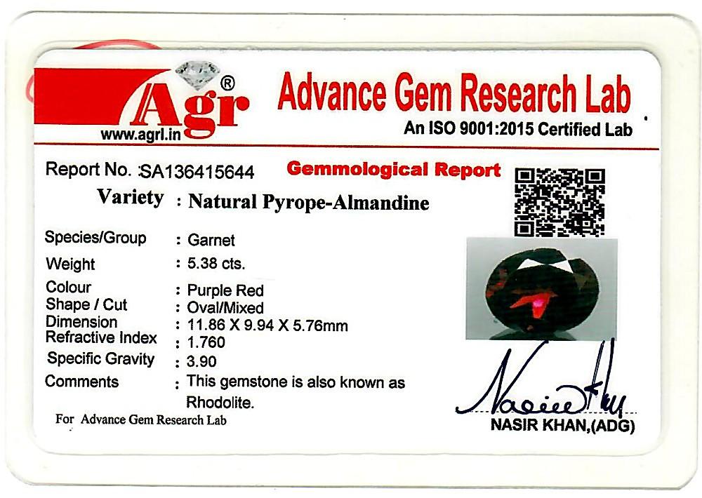 Garnet - 5.38 carats