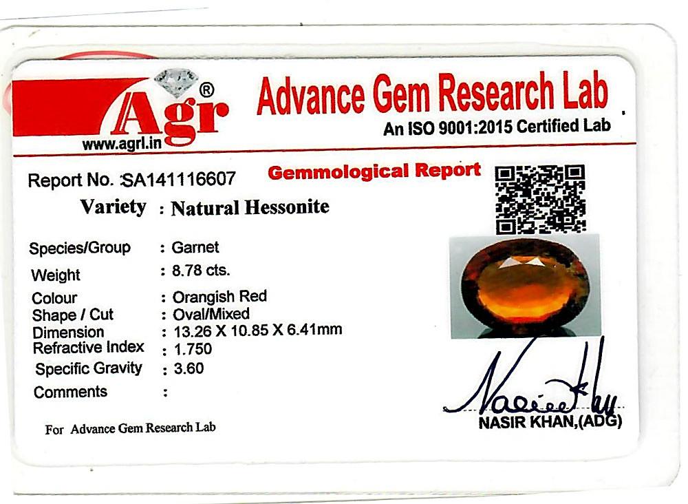 Hessonite - 8.78 carats