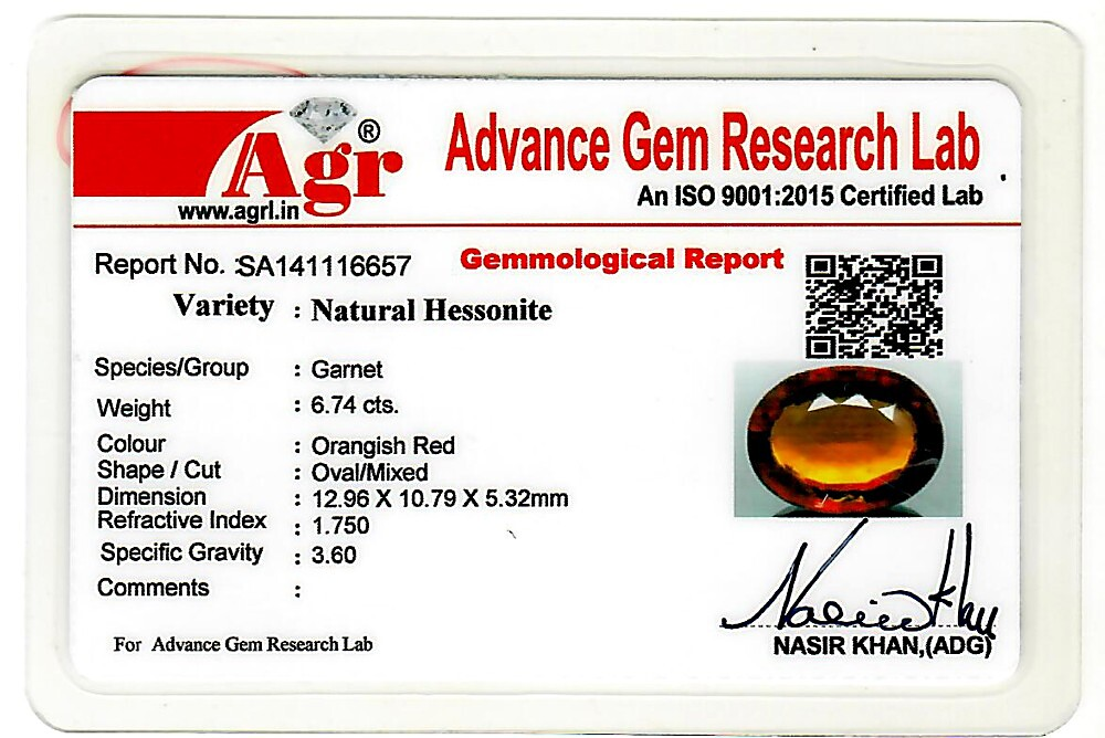 Hessonite - 6.74 carats