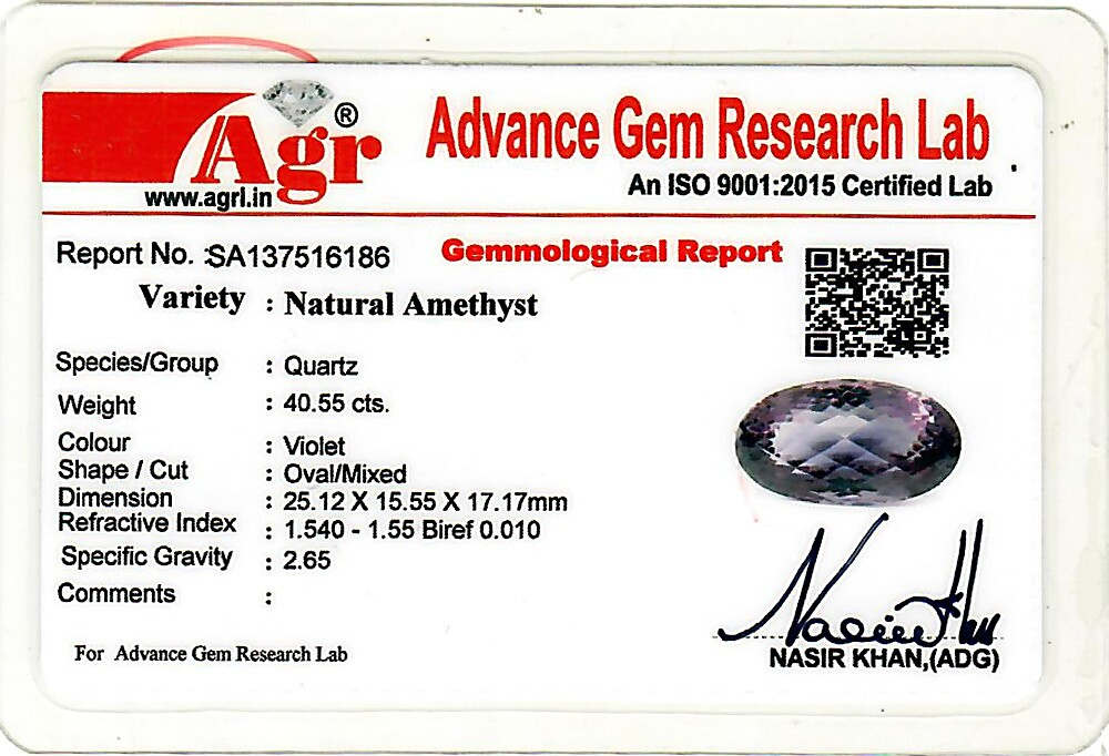 Amethyst - 40.55 carats
