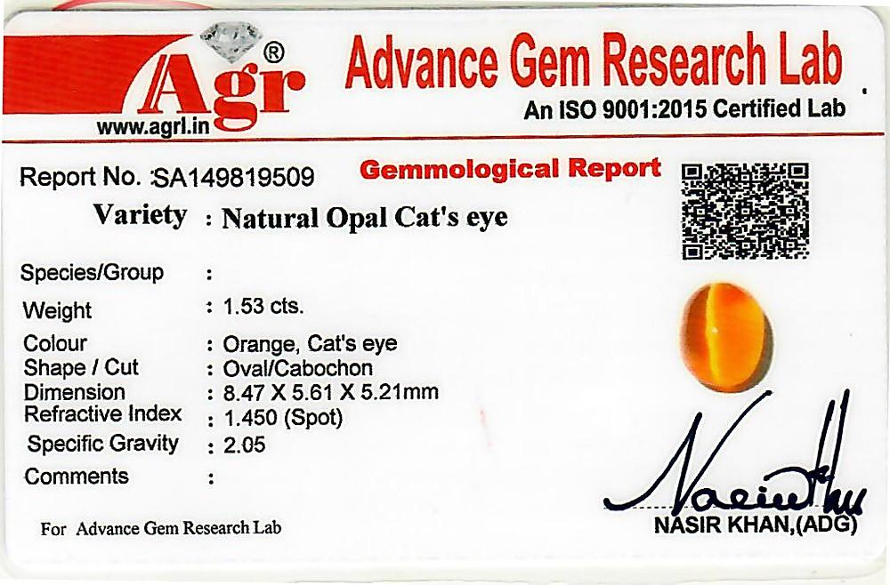 Opal Cat's Eye - 1.53 carats