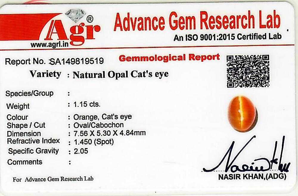 Opal Cat's Eye - 1.15 carats