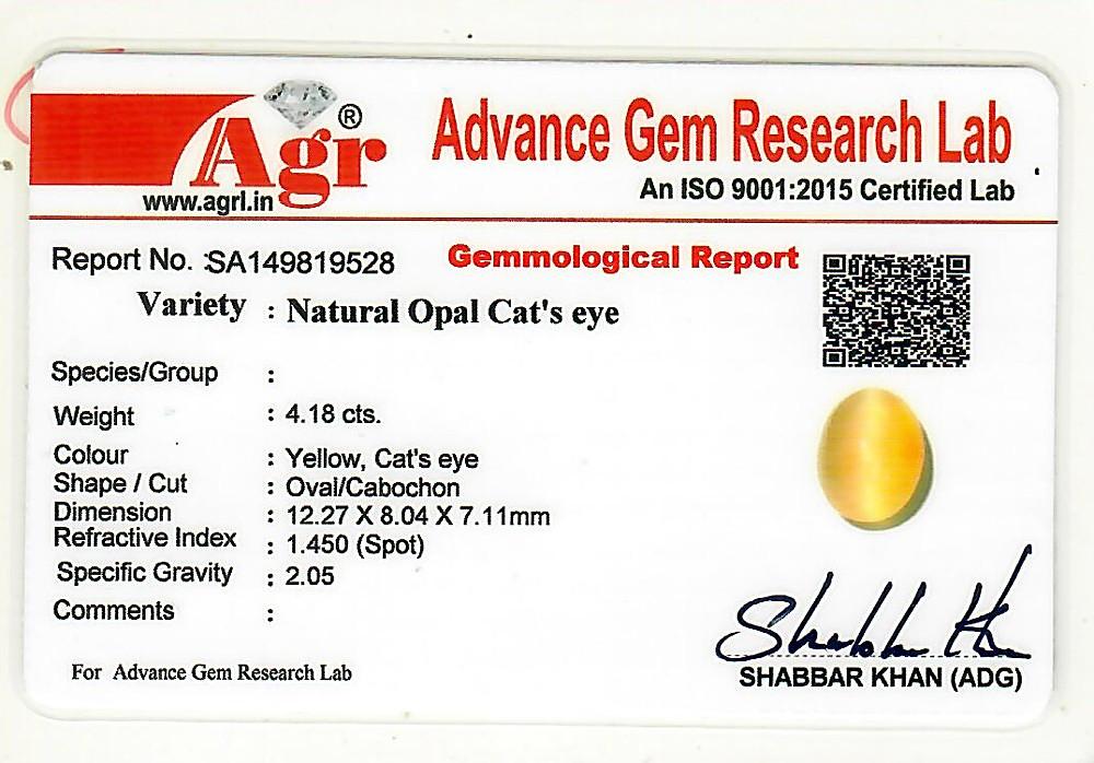 Opal Cat's Eye - 4.18 carats