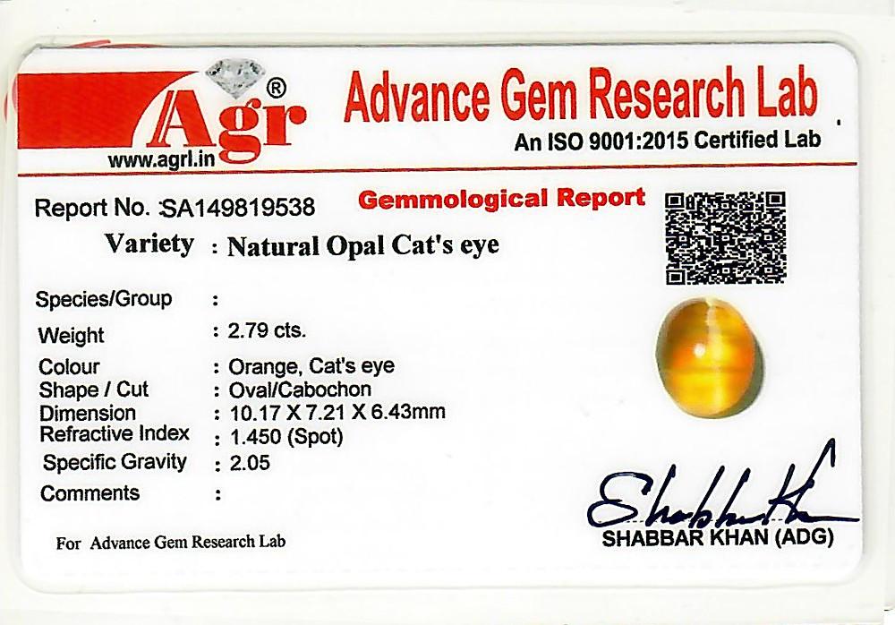 Opal Cat's Eye - 2.79 carats