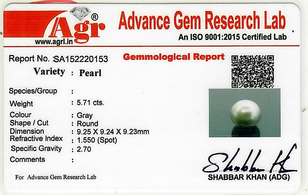 Black Tahitian (Cultured) Pearl - 5.71 carats