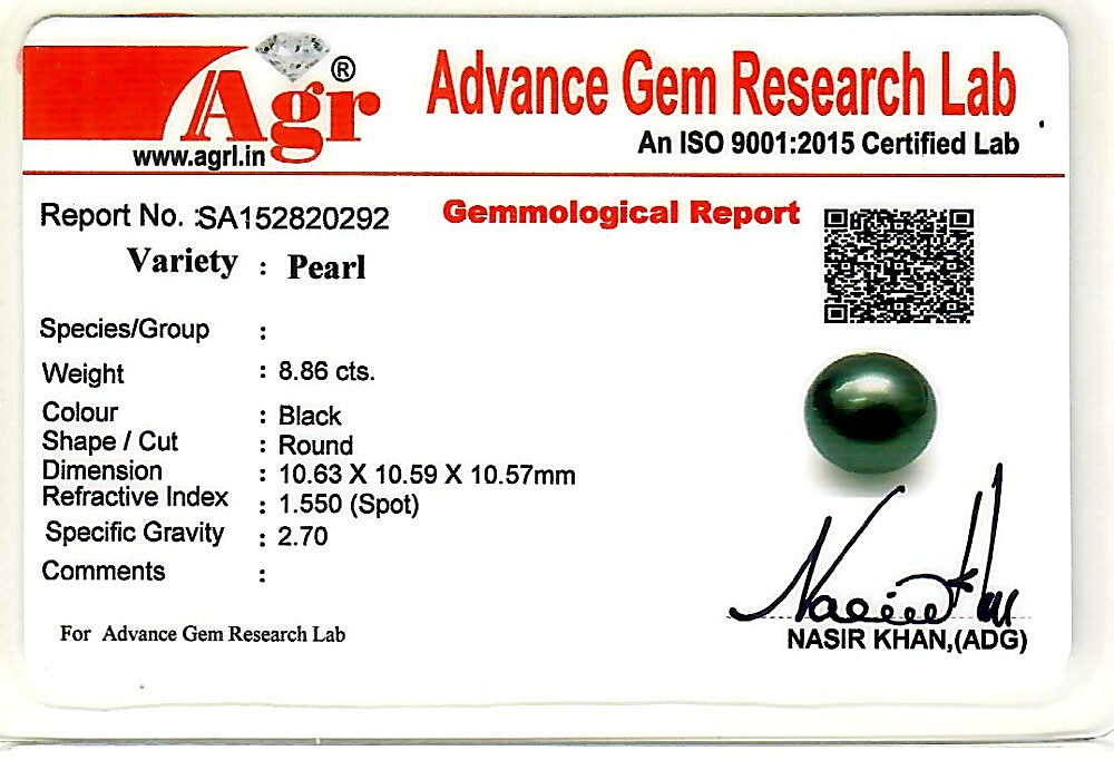 Black Tahitian (Cultured) Pearl - 8.86 carats
