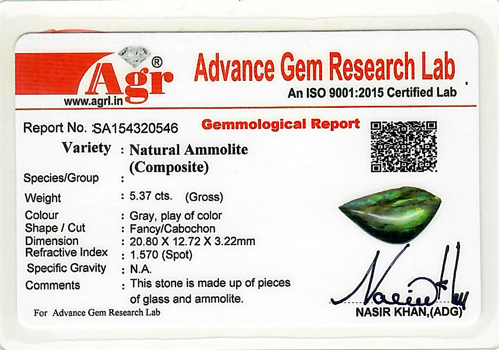 Ammolite - 5.37 carats