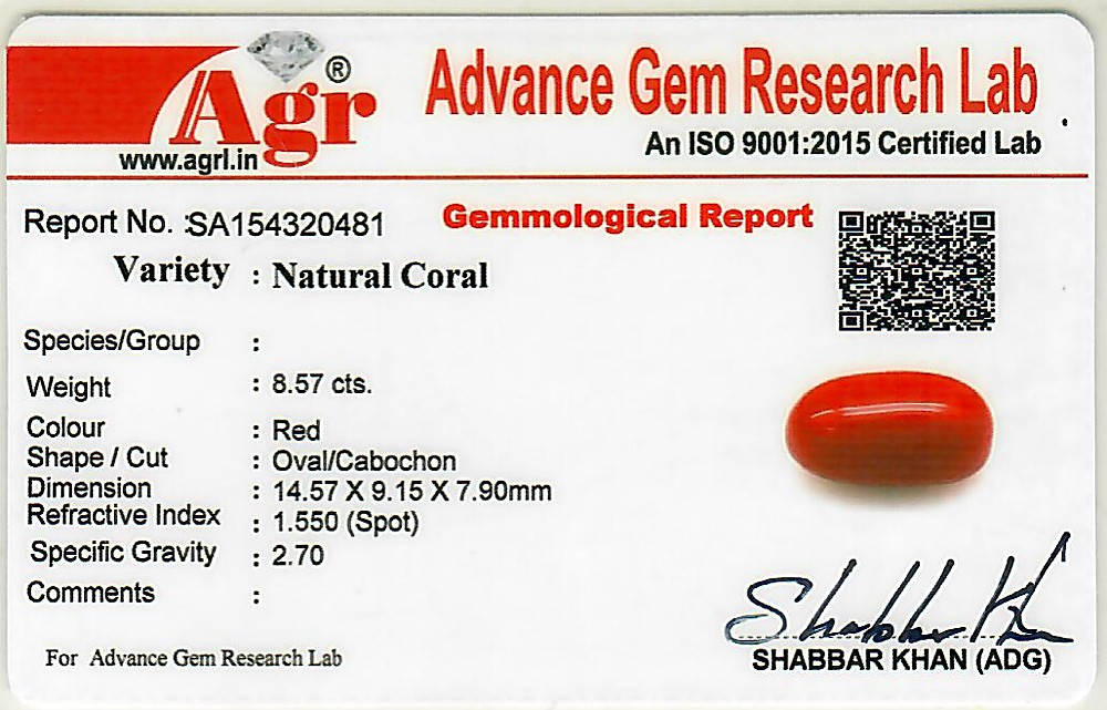 Red Coral - 8.57 carats