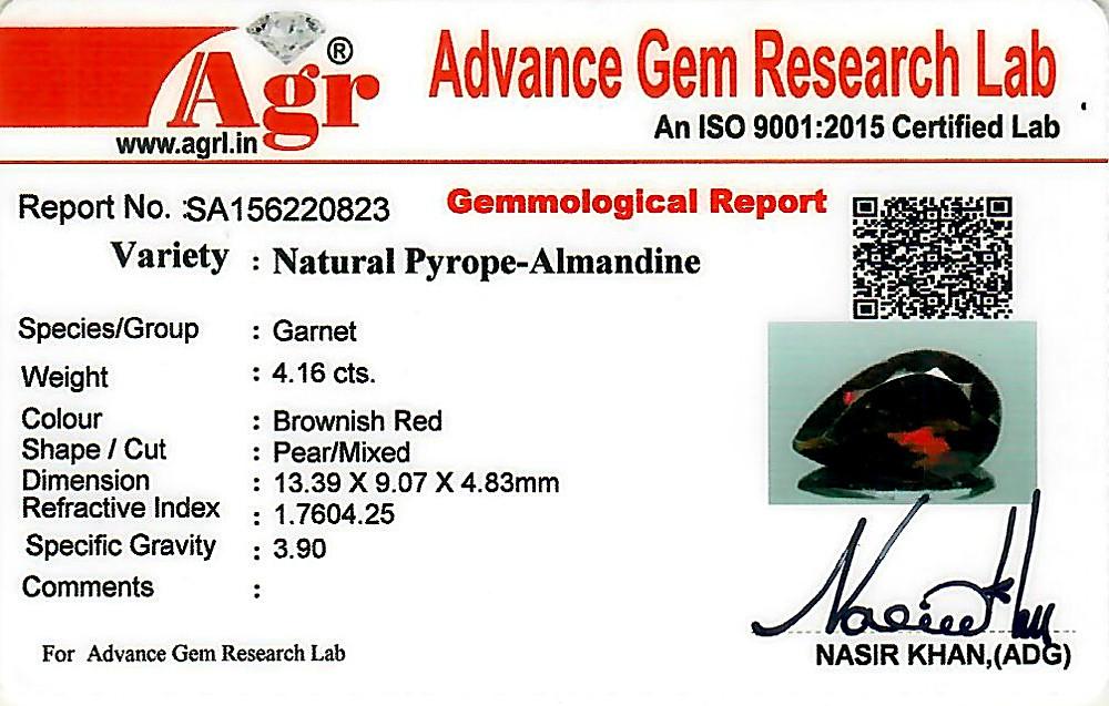 Red Garnet - 4.16 carats