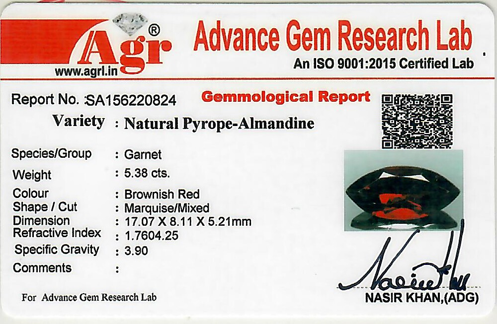 Red Garnet - 5.38 carats