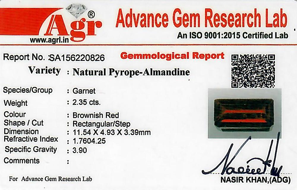 Red Garnet - 2.35 carats