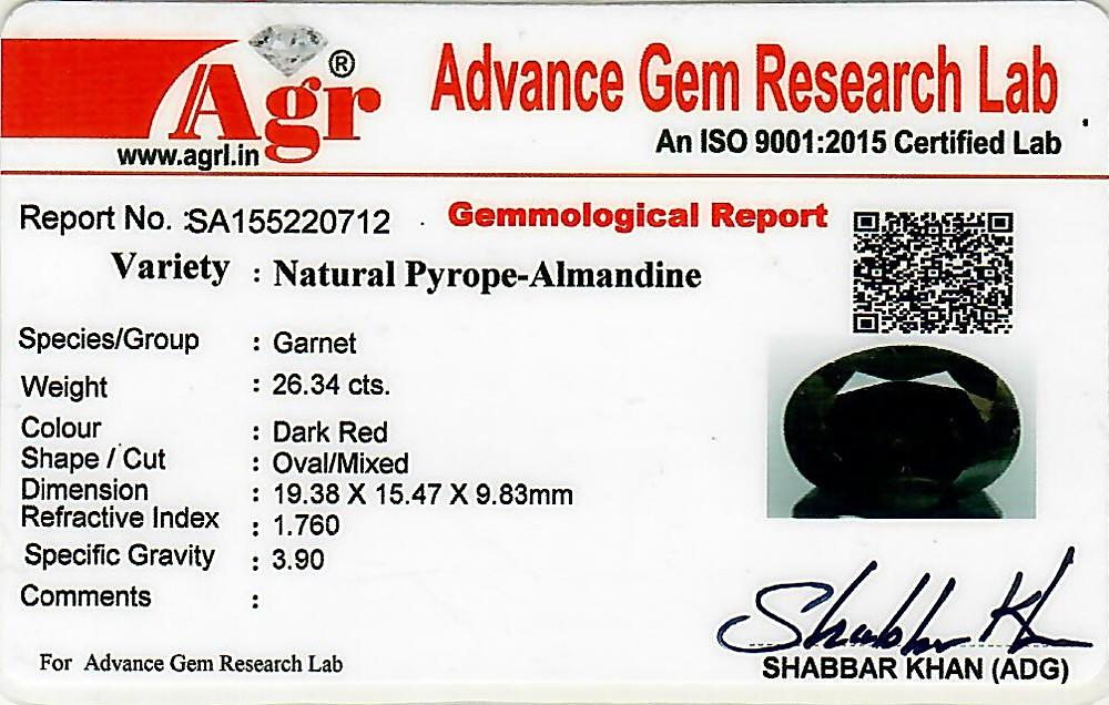 Red Garnet - 26.34 carats