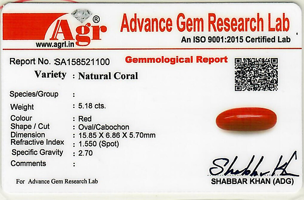 Red Coral - 5.18 carats
