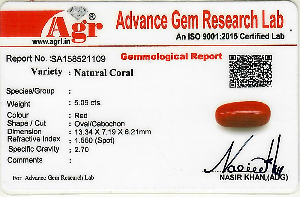 Red Coral - 5.09 carats