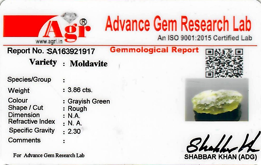 Moldavite - 0.77 grams