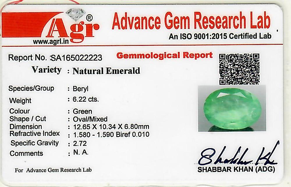 Emerald - 6.22 carats