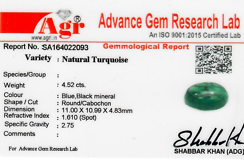 Turquoise - 4.52 carats