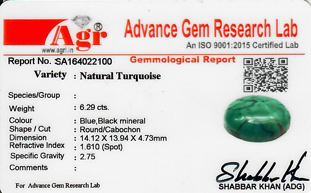 Turquoise - 6.29 carats