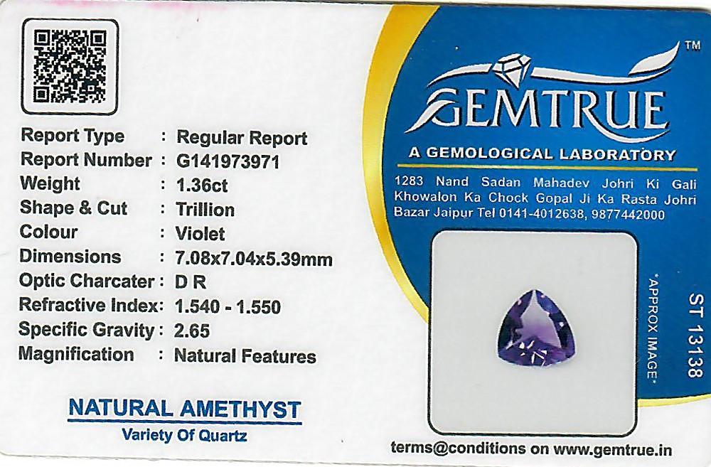 Amethyst - 1.36 carats