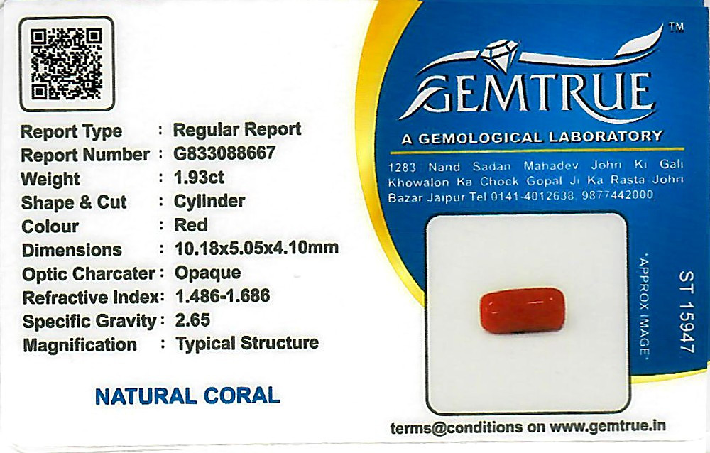 Red Coral - 1.93 carats