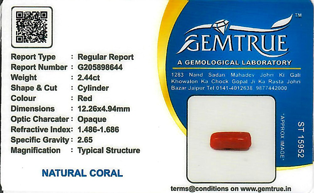 Red Coral - 2.44 carats
