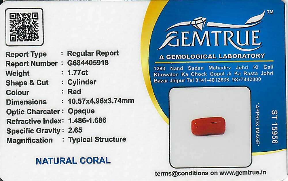 Red Coral - 1.77 carats