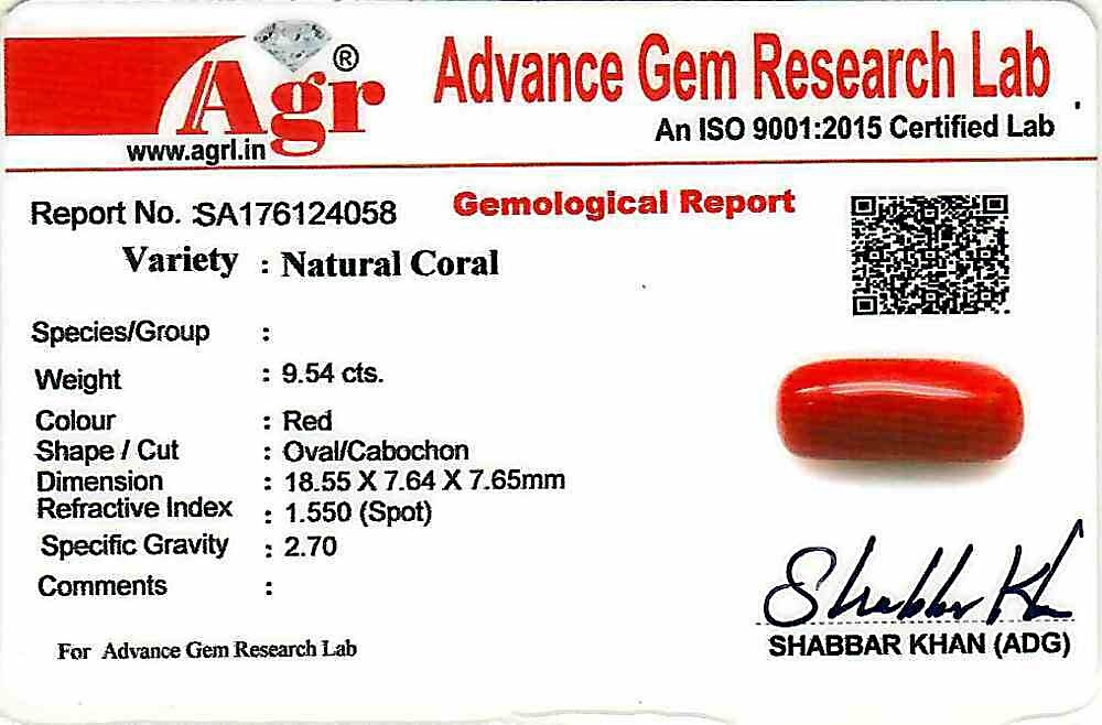 Red Coral - 9.54 carats