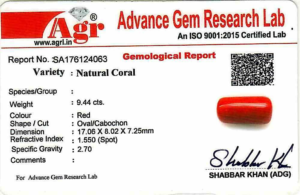 Red Coral - 9.44 carats