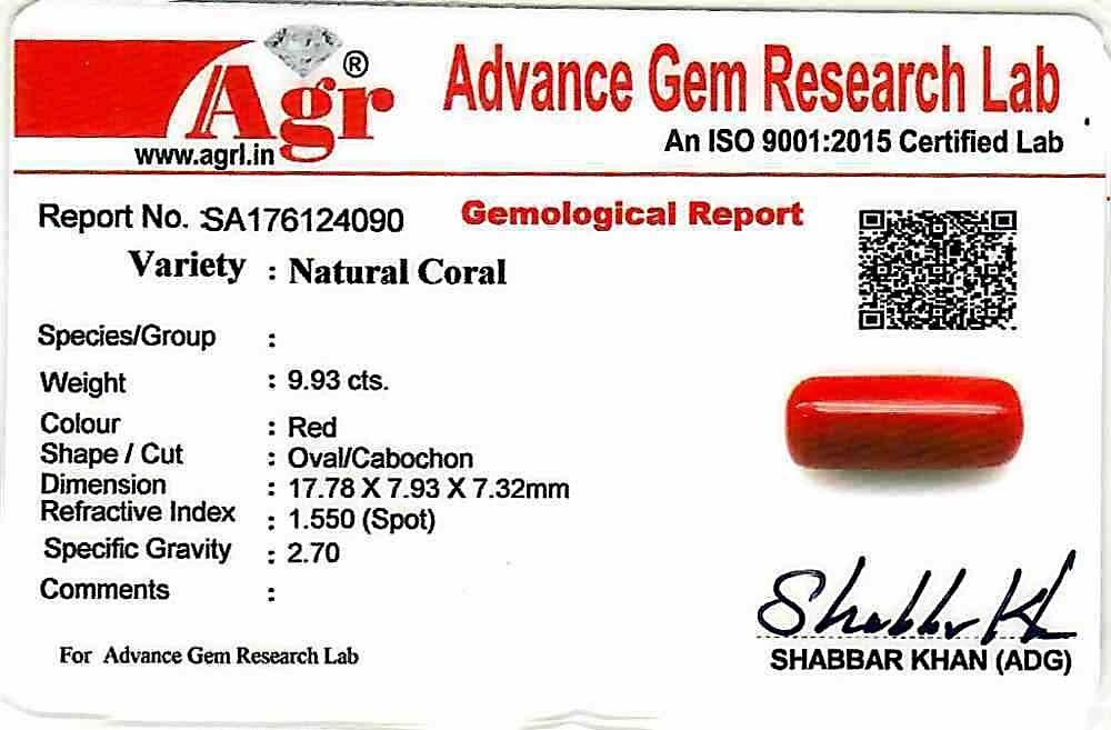 Red Coral - 9.93 carats