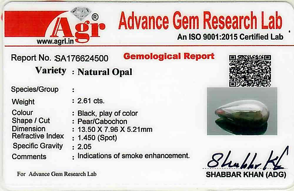 Black Opal - 2.61 carats